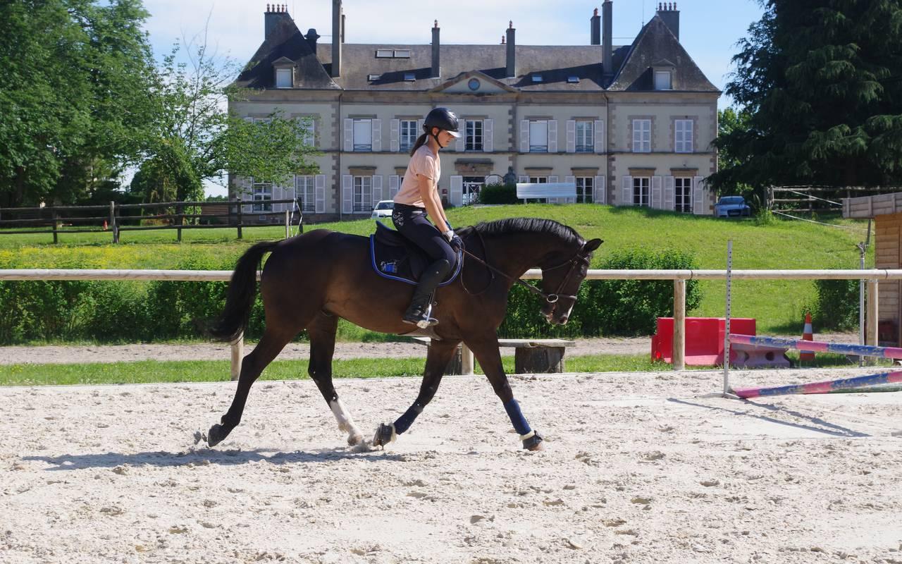 Cours d'équitation pour les enfants, piscine spa découvertes auvergne allier, Château d'Ygrande