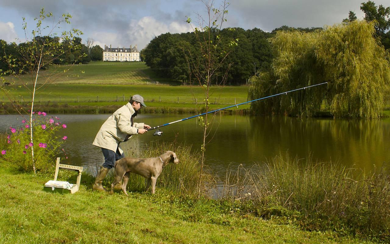 Fishing, auvergne stay, Château d'Ygrande
