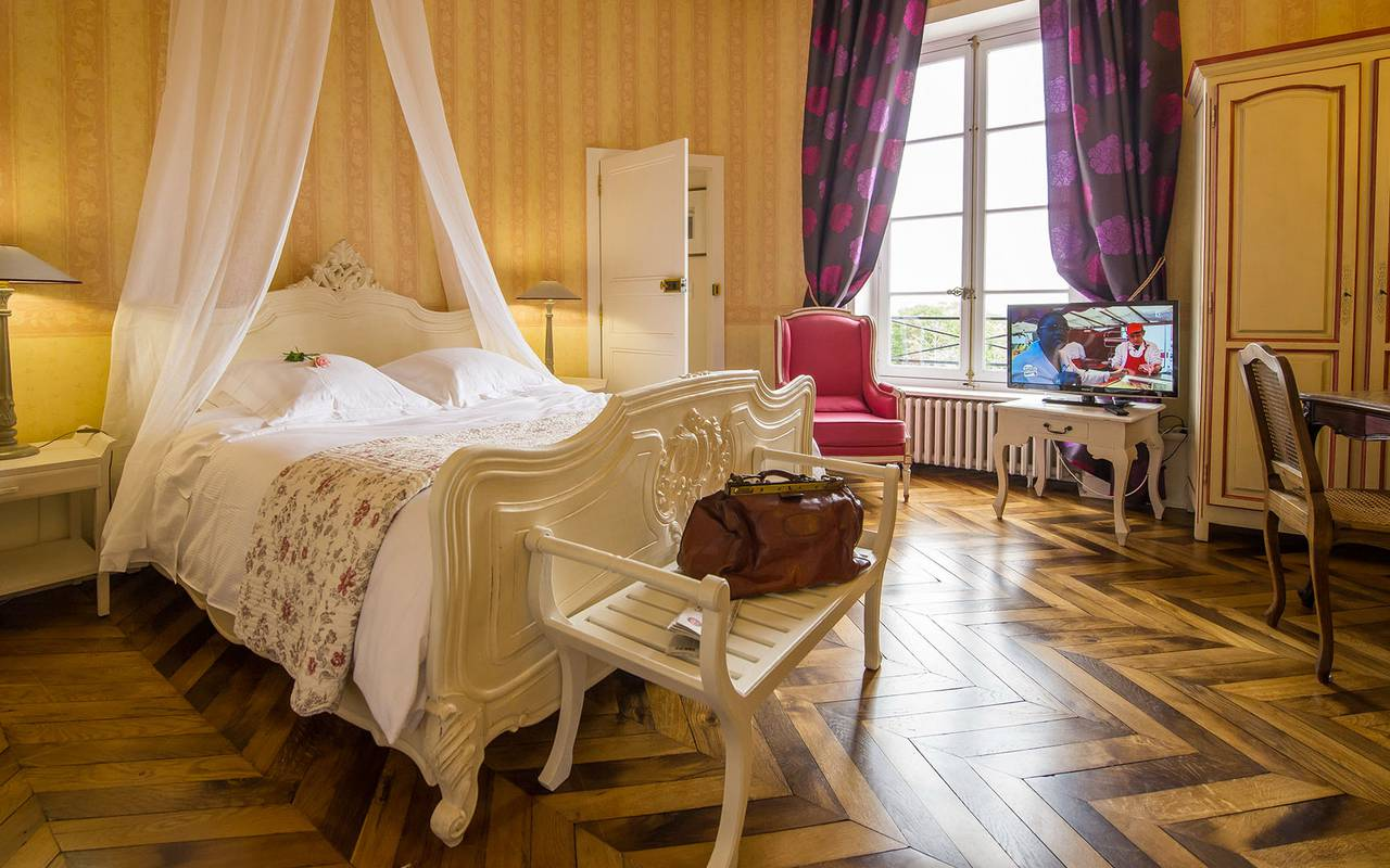 Bright superior room, authentic charm 4 stars auvergne, Château d'Ygrande