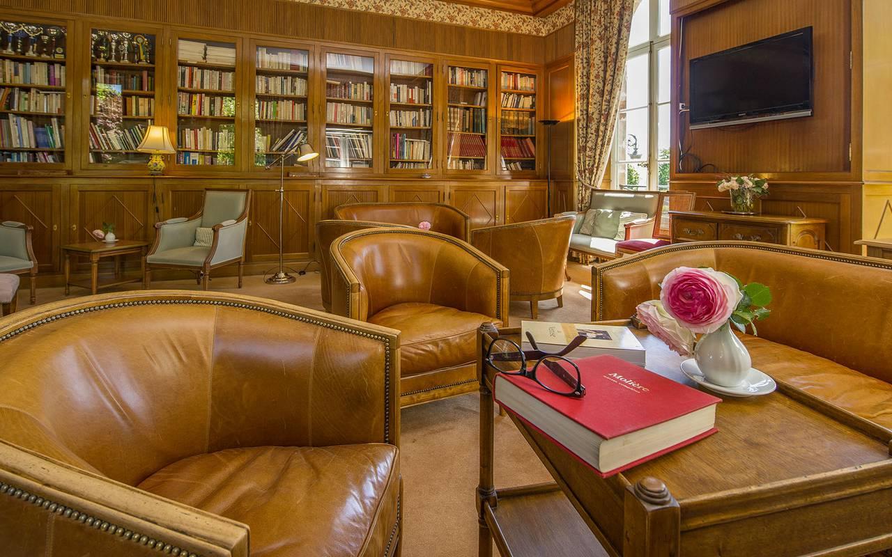 Salon de l'hôtel, hotel de charme en auvergne, Château d'Ygrande.
